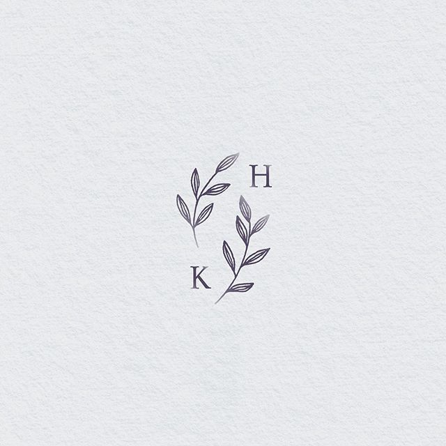 Wedding logo, monogram. Botanical wedding logo – #…