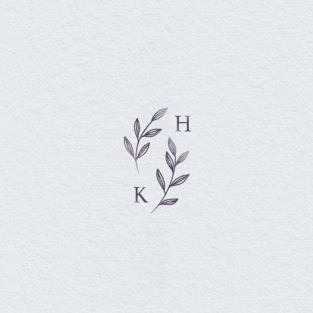 Wedding logo, monogram. Botanical wedding logo