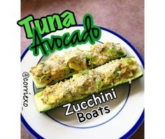 Ripped Recipes - Tuna Avocado Zucchini Boats - A delicious tuna sandwich alternative without losing any of the flavour! Enjoy!
