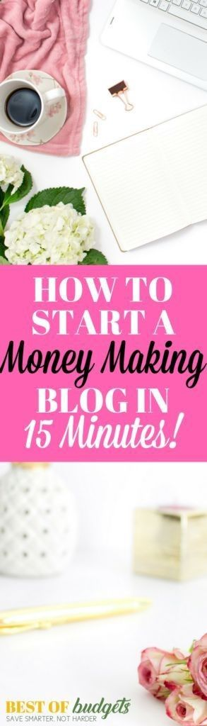 Earn Money From Home How to Start a Blog in 15 Minutes | Start a mom Blog | Start a profitable blog | make money blogging | bestofbudgets.com You may have signed up to take paid surveys in the past and didn't make any money because you didn't know the correct way to get started!