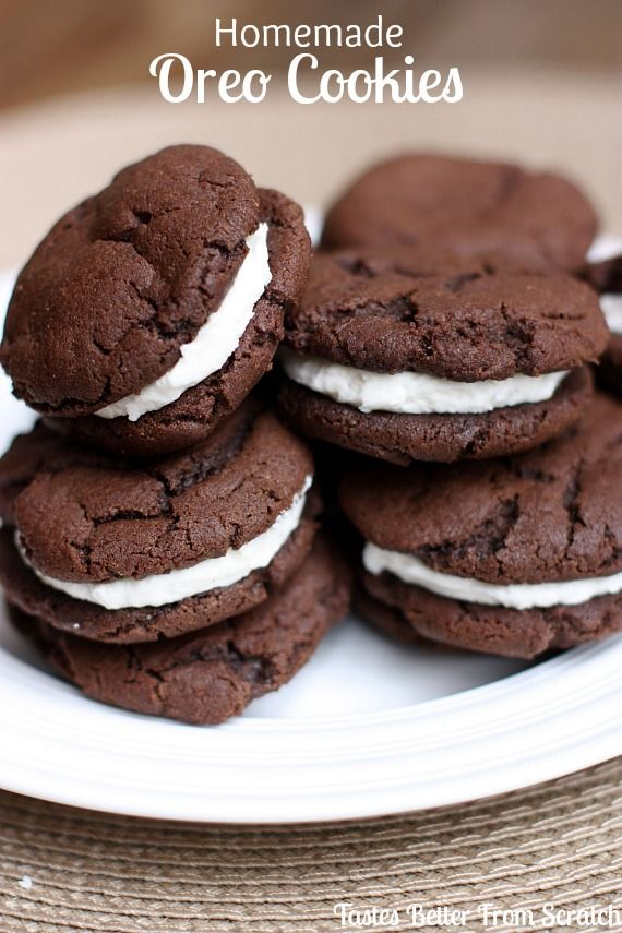 Homemade Oreos | They're so much better homemade!!!  Recipe from TastesBetterFromScratch.com