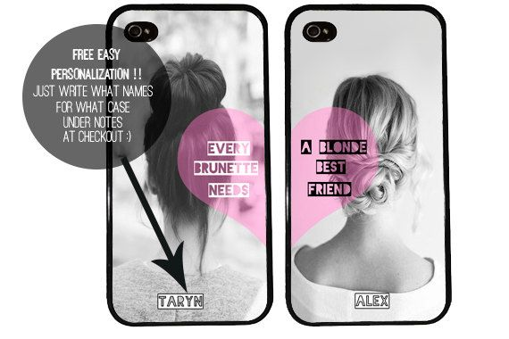 Hey, I found this really awesome Etsy listing at https://www.etsy.com/listing/174620347/bff-case-blonde-and-brunette-iphone-4