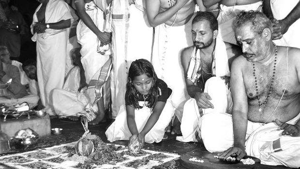 a clip - the two-day 'ashtamangala devaprasnam' at the Sabarimala hill shrine that began on Wednesday