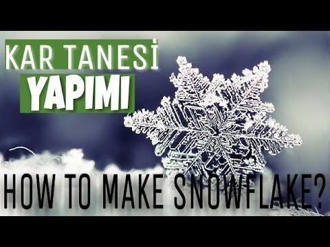 KAR TANESİ YAPIMI(silikon ile) ~How to make snowflake?