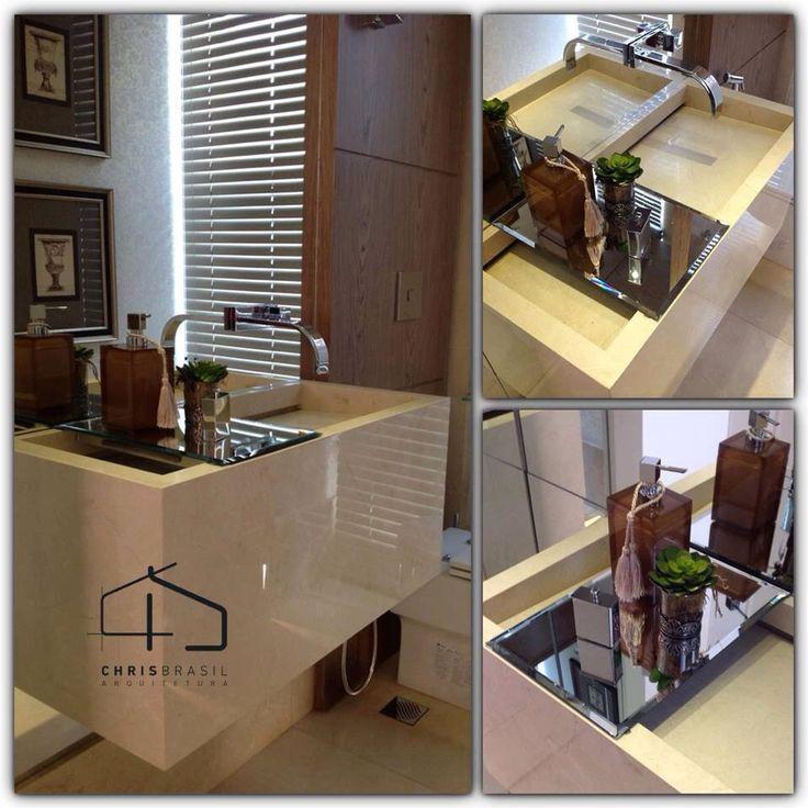 Detalhes lavabo - Projeto Chris Brasil Arquitetura