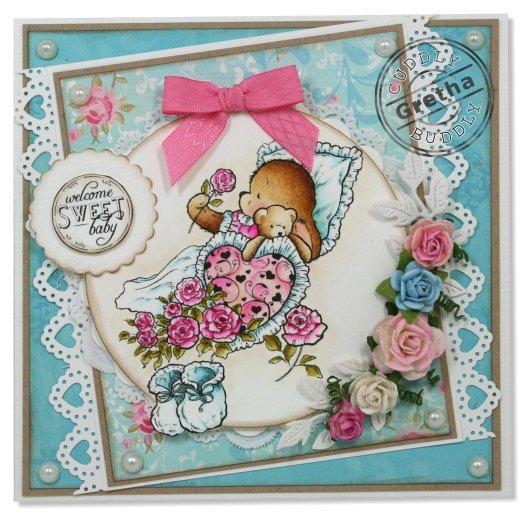 Pachela Studios Digi Stamp - Toby Tumble Sweet Baby < Craft Shop   Cuddly Buddly Crafts