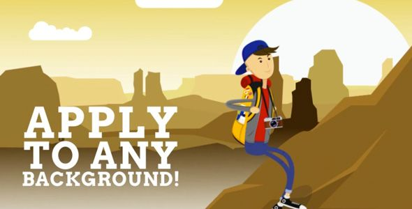 Backpacker Mascot Cartoon Animated