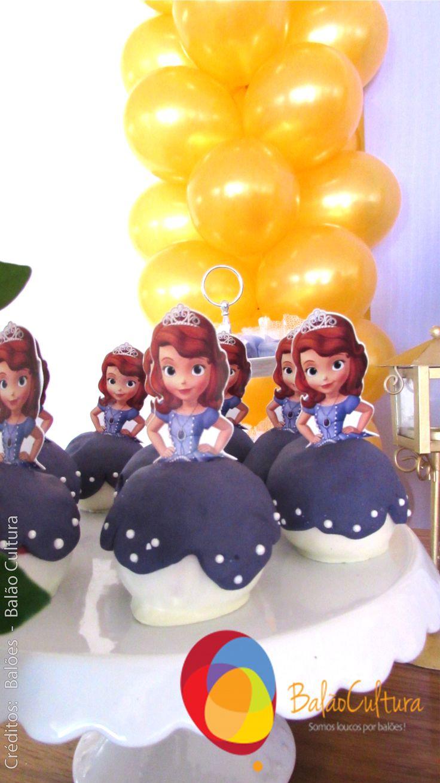 Festa Princesa Sofia. Maça do Amor Delicada Receita  Crédito: Balões: Balão Cultura Decoração: O Chá das 5 www.boxbalao.com
