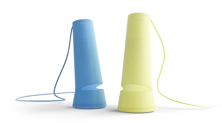 Joze Table night lamp Manworksdesign  Simple and emotional plastic lamp with a fluorescent light bulb.  Material - semitransparent plastic. Status - not in production.