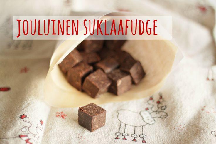 Karkkipäivä: Jouluinen suklaafudge (viljaton, makeuttamaton, maidoton, munaton, pähkinätön, soijaton)