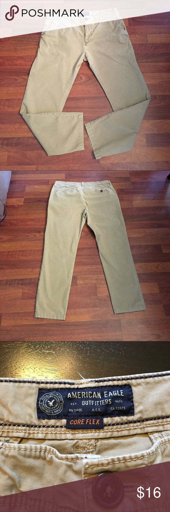 American Eagle Outfitters Men's khaki pants 💥American Eagle outfitters khaki men's  pants. In great shape. No holes or stains. Size 36/32.  Pants have never been dried. Great pants. Thanks for looking in my closet💋 American Eagle Outfitters Pants Cargo