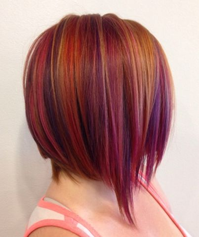 Deep jewel tones for fall, chic AND playful! ...by Kristin Pellegrino of Head Candy Salon in Cherry Hill, NJ   Get her formulas!