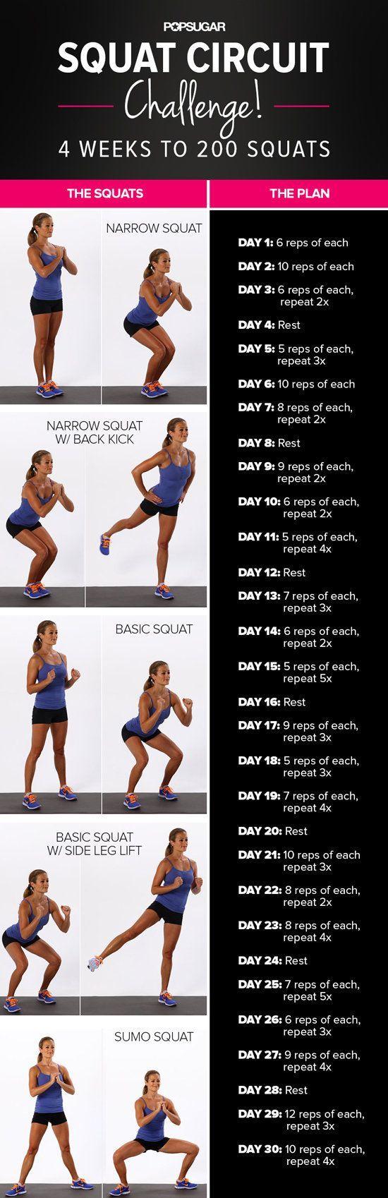 30-Day Squat Challenge | POPSUGAR Fitness
