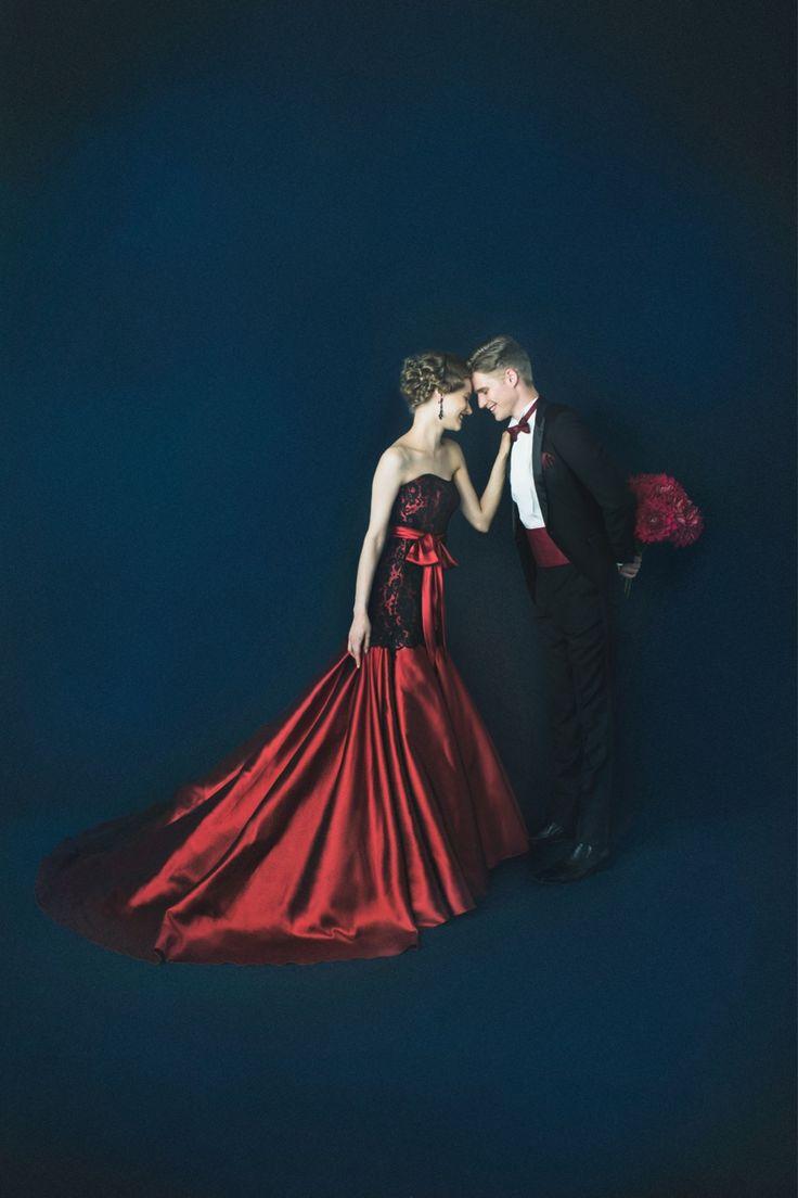 EPNV27 #NOVARESE #black #red #dress #weddingdress #wedding #tuxedo #ノバレーゼ #ブラック #レッド #黒 #赤  #カラードレス #タキシード #ウエディング #couple #love