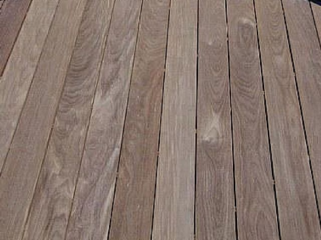 Shown here is a close-up photo of a gorgeous, color-rich Ipe deck (before oiling).  Ipe decking is one of the finest and most durable hardwood products used for outdoor structures available on the market today.