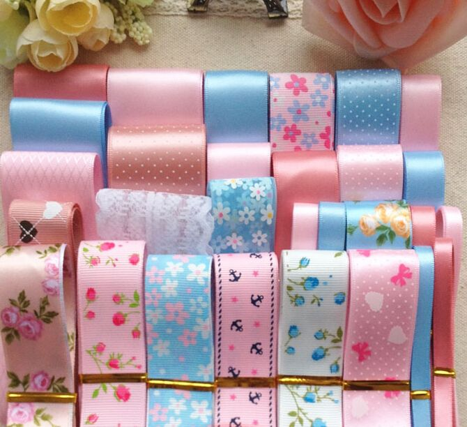 Find More Ribbons Information about 29meters pink blue satin/grosgrain ribbon set diy bowknot materials flower heart print grosgrain ruban patchwork lace trim R1520,High Quality lace mould,China lace china Suppliers, Cheap lace curtain from DIY Supplies on Aliexpress.com