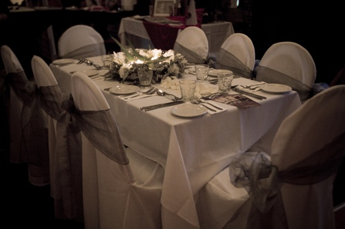 #wedding #weddingreception #organzasash #sashes #chaircovers