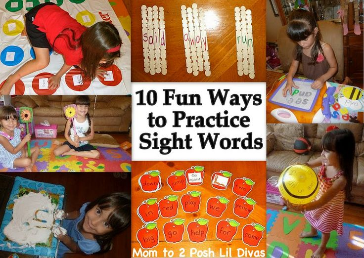 Mom to 2 Posh Lil Divas: 10 Ways to Learn Sight Words Through Play!Learning Sight, Sight Words Practice, 10 Fun, Sight Words Games, Languages Art, Sight Words Activities, Words Work, Sight Word Games, Practice Sight
