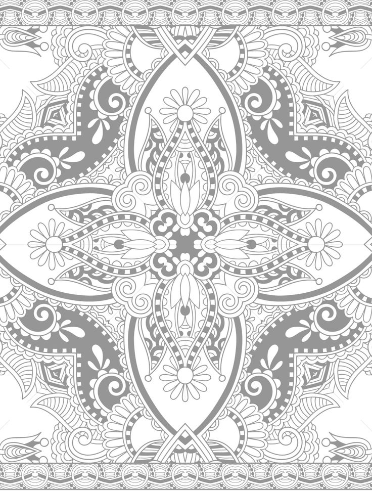 Mandala coloring page printable adults Animal