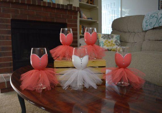 Verres à vin fêtes nuptiales, la main peint mariées verres à vin, verres à vin fête mariage, Evjf verres, 5 verres à vin sur mesure