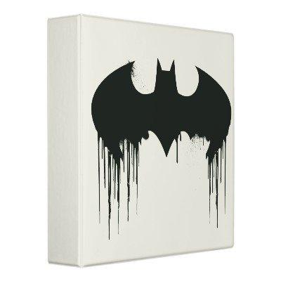 Bat Symbol - Batman Logo Spraypaint Binders from Zazzle.com