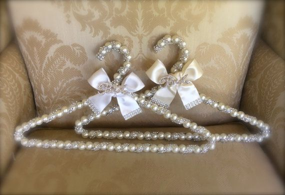 custom bridal hanger with brooch  wedding by TheCrystalFlower