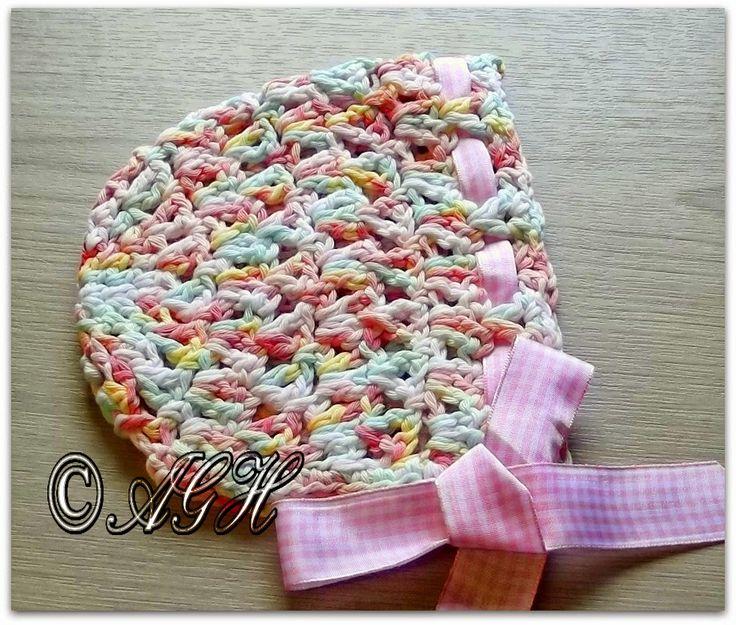 Candy Sprinkles Baby Bonnet #Crochet #Baby