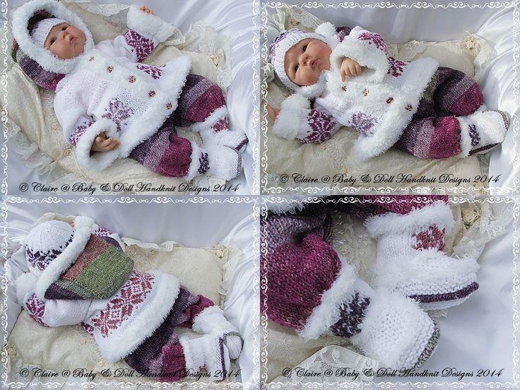 "'A Bit random' Coat Set 19-22"" doll or newborn-3m+ baby-a bit random, knitting pattern, babydoll handknit designs, reborn, baby"
