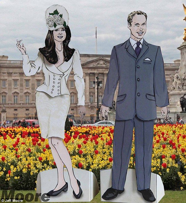Kate and William dressed in some formal attire fit for a Buckingham Palace garden party