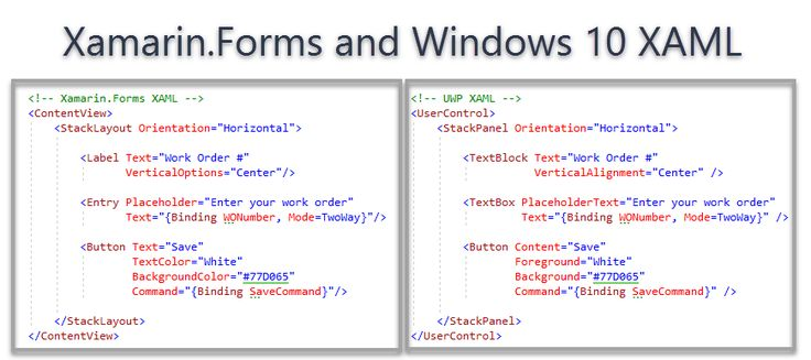 #Microsoft Introducing #XAML #Standard and #.NET #Standard 2.0  source  Microsoft Introducing XAML Standard and .NET Standard 2.0  XAML Standard  We are pleased to announceXAML Standard which is a standards-based effort to unify XAML dialects across XAML based technologies such as UWP and Xamarin.Forms.  XAML Standard is a specification that defines a standard XAML vocabulary. With that vocabulary frameworks that support XAML Standard can share common XAML-based UI definitions. The goal is for the first version XAML Standard 1.0 to be available later this year.  Post-specification plans include support of XAML standard in Xamarin.Forms and UWP. You can continue developing your UWP and Xamarin.Forms apps as you do today. When XAML Standard support is enabled you will be able to reuse and share between the frameworks and expand into more platforms.  To visualize what this support would look like heres a side-by-side comparison between todays XAML in Xamarin.Forms and in UWP:  In the above example  once XAML Standard is supported by Xamarin.Forms you can use <TextBlock /> and have it supported in a Xamarin.Forms app targeting iOS and Android instead of needing to know and use <Label /> as shown above. In addition to a TextBlockhere are some of the currently proposed items for standardization.  We are at the beginning of a journey that makes it easy for you to reuse your XAML source files between some simple Xamarin.Forms and UWP views. For example  a Settings.xaml page where you typically have some text toggle switches and some buttons. Youd only need to design and create one XAML file to describe this UI and that can be used everywhere.  Nothing changes for existing developers  you can continue to use the same APIs you have always used in both frameworks. XAML Standard will help you reuse/share any common UI code that you wish to share between end points.  The XAML Standard v1 draft spec is being defined in the open we encourage you to start a discussion or give us di