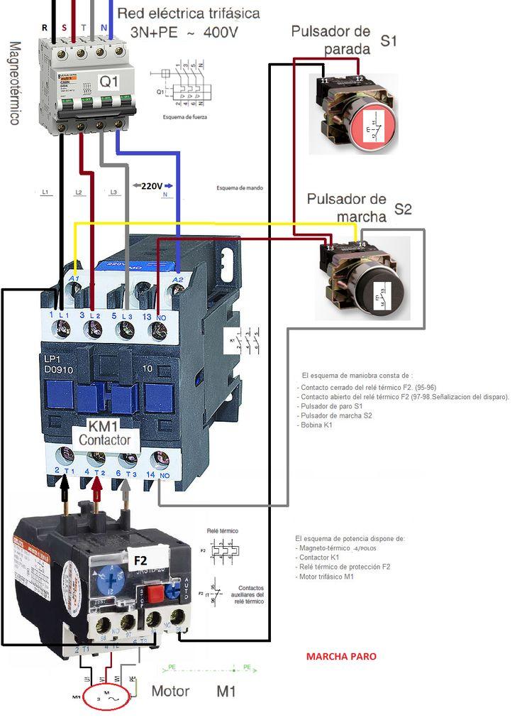 Esquemas eléctricos: MARCHA Y PARO COMO CONECTARLO TRIFASICO