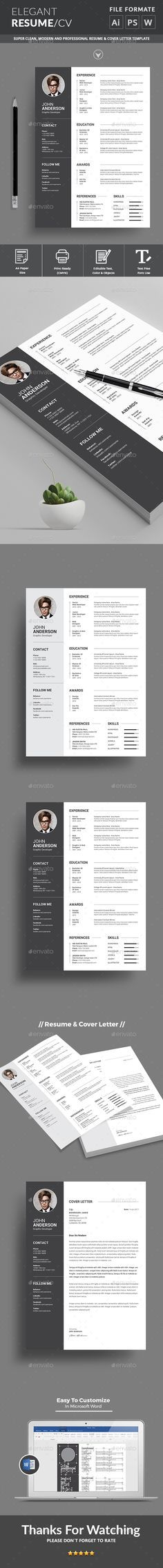 Resume - Resumes Stationery Download here: https://graphicriver.net/item/resume/19352701?ref=classicdesignp