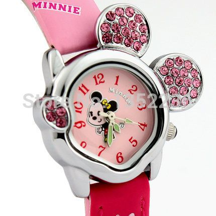 Find More Wristwatches Information about Freeshipping original children watch Korea design girl Lovely mouse watch girl student Cute cartoon mickey minnie diamond watch,High Quality Wristwatches from alienbaybay on Aliexpress.com