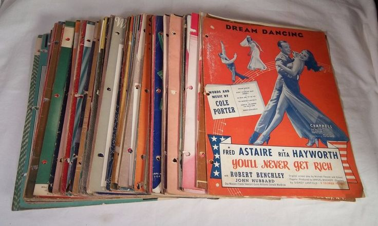 Vintage Sheet Music - Lot of 100 - 30's 40's 50's Irving Berlin / Sinatra / Como