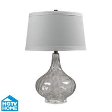 View The Dimond Lighting HGTV147 HGTV Home Clear Table Lamp With Pure White Cotton And Nylon