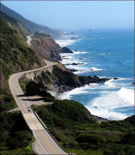 Travel by motorcycle from Seattle to San Diego on the Pacific Highway.