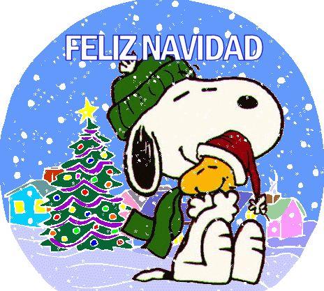 Feliz Navidad Snoopy gifs para descargar gratis.