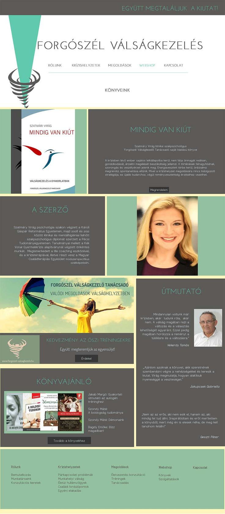 Szunyogh Krisztina Forgószél tanácsadó honlapja   Kreatív Webdesign Tanfolyam