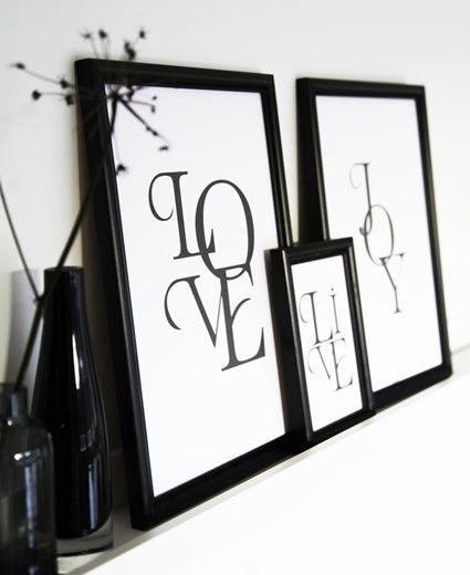 Love Live Joy prints By Johanna Lehtinen