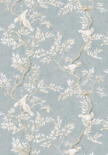 LEWIS & WOOD Doves linen print