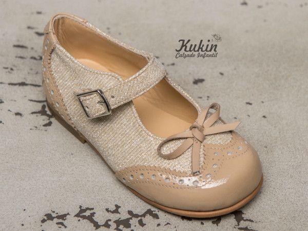 zapatos-ceremonia-niña-landos calzado infantil - zapatos ceremonia niña - moda niña - zapateria infantil online - merceditas ceremonia niña - zapatos niña - moda infantil - kukin calzado infantil - dorados - charol - zapatos arras