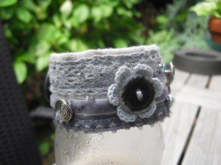 "Stoff-Armband ""Marie"" von einfach-B auf DaWanda.com"