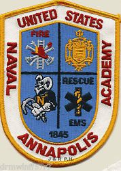 NAVY - Naval Academy, Annapolis, MD fire patch