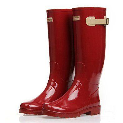 ZLYC Women's Knee High Rain Boots Galoshes from Amazon