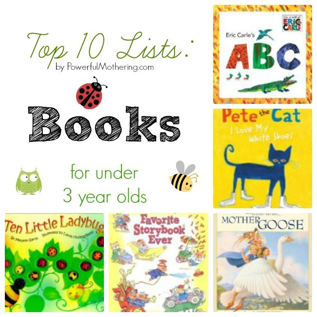 Top 10 Lists: Books for under 3 year olds