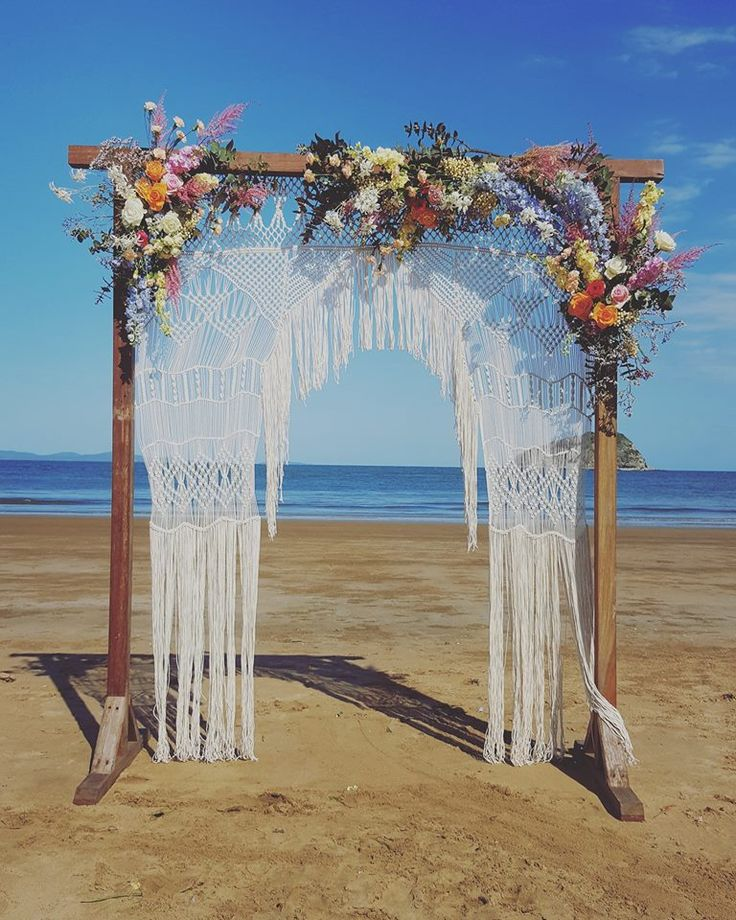Macrame Arbor created by Jill McArthur. For Hire for boho brides.
