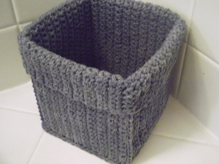 17 Best Images About Crochet Baskets Squared On