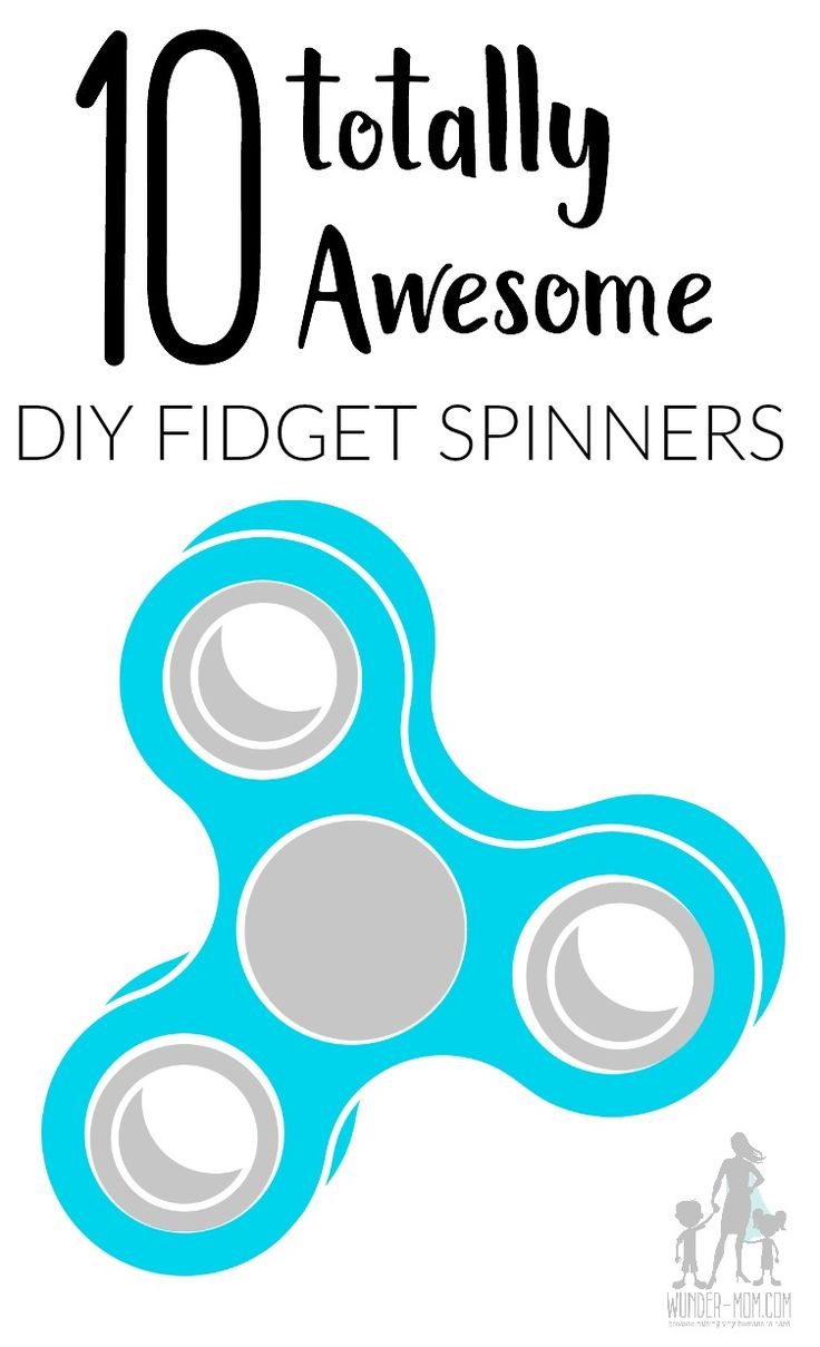 DIY Fidget Spinners - are your kids in the fidget spinner craze?  Well now you can make your own sensory tool and hand fidgets with one of these awesome DIY fidget spinners!