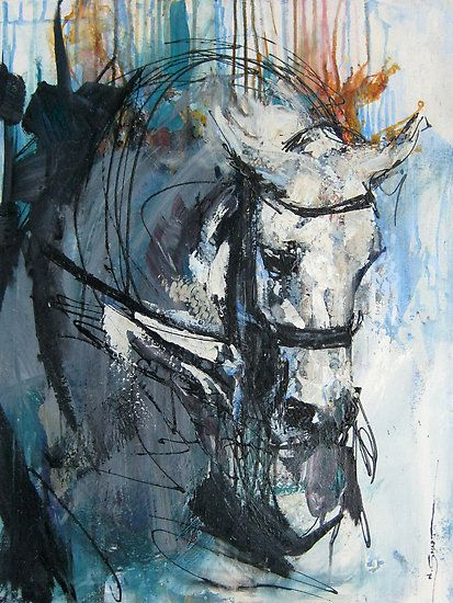 Dressage - Grey Stallion in Focus by Nina Smart  - beautiful! Would love a print of this!!