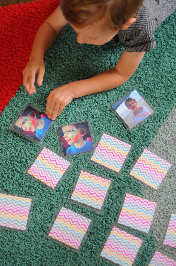 Homemade Photo Memory Game: FamilyFun Test Drive. Make your own memory game using photographs of your friends and family.